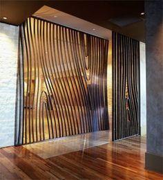 Jill Seidner Interior Design: Design Hotels. Room divider tree vain inspiration. #industrial #beauty