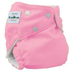 FuzziBunz One Size Elite Diaper -- Cotton Candy - TRADED April 18th