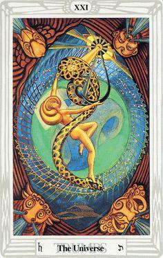 XXI - Le monde - Tarot Thoth par Aleister Crowley