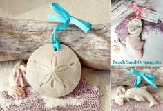 Beach Sand Ornaments: http://beachblissliving.com/beach-christmas-decorations/