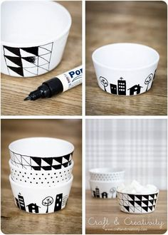 Jane at home: DIY - Malovaný porcelán