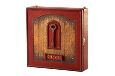Handmade Wall Etui For Keys Genuine Leather, Wooden Key Cabinet, Key Holders, Key organizer by MakeyStudio on Etsy