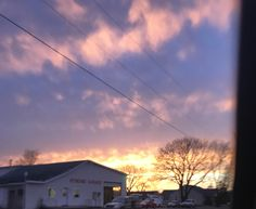 Sunset yesterday.. farmhouse And a beautiful sky. I love simplicity in my photos. The cotton candy sky is beautiful in the background and the different shades of blue just pop.. pictures of sunsets are always some of my favorite photo ops..  milesnkimmy