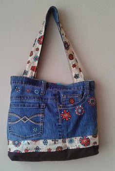 Carteras de Jeans Reciclados ~ Ideas Giya