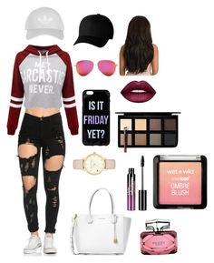 """""""easy"""" by carmencomp on Polyvore featuring WithChic, Michael Kors, Flexfit, Victoria Beckham, Kate Spade, Lime Crime, Down to Earth, Charlotte Russe, Gucci and Topshop"""