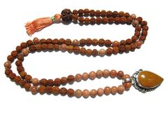 Surya Mala Sunstone Mala Beads Rudraksha Meditation Religious,Japamalabeads #mogulinteiror