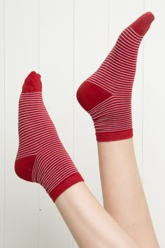 Brandy ♥ Melville | Red Stripe Socks - Accessories