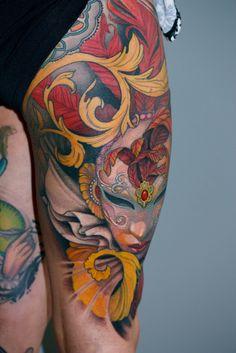 jeff gogue - Google Search Full Body Tattoo, Body Tattoos, I Tattoo, Tatoos, Jeff Gogue, Irezumi, Watercolor Tattoo, Body Art, Piercings