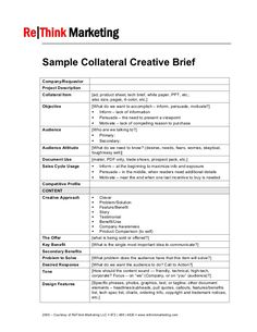 marketing research brief template - creative brief template vmore information about video