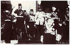 King Fouad With King Amanullah Khan Of Afghanistan - Cairo In 1919.