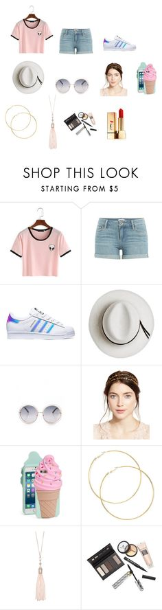 """""""( ◞・౪・)"""" by mackenzie-marsinelli on Polyvore featuring Paige Denim, adidas, Calypso Private Label, Jennifer Behr, Kate Spade, Oasis, Borghese and Yves Saint Laurent"""