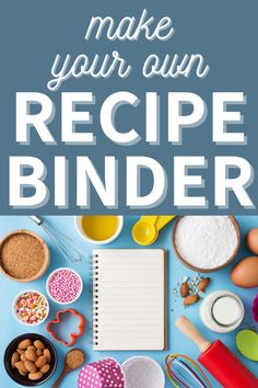 How to put together a simple recipe binder for your kitchen. Easily organize all of your recipes with this quick and simple organization project. #Organizing #MealPrep #organizingmoms Organizing Paperwork, Binder Organization, Organizing Your Home, Organizing Tips, How To Make Your Own Recipe, Home Filing System, Recipe Binders, Organized Mom, Menu Planning