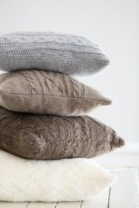 DIY Pillows and Creative Pillow Projects - Re-Purposed Sweater Pillows - Decorative Cases and Covers, Throw Pillows, Cute and Easy Tutorials for Making Crafty Home Decor - Sewing Tutorials and No Sew Ideas