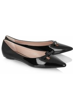 45d3da0d2c7 Marc Jacobs Patent-leather point-toe flats Pointed Toe Flats
