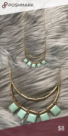 Double Layer Mint Necklace This necklace has never been worn, has an adjustable clasp and features double layers. LC Lauren Conrad Jewelry Necklaces