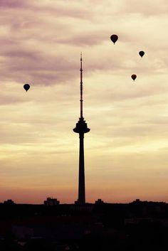 Hot air balloons!  Lithuania, Vilnius www.vilnius.com/tour