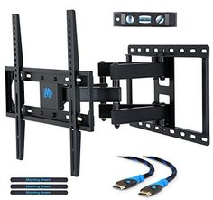 Discounted Mounting Dream MD2380 TV Wall Mount Bracket for most 26-55 Inch LED, LCD, OLED and Plasma Flat Screen TV, with Full Motion Swivel Articulating Dual Arms, up to VESA 400x400mm and 99 LBS with Tilting