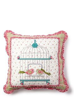 Green Birdcage Cushion - cushions - For The Home - BHS