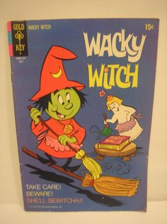 1971 Gold Key - Wacky Witch Comic Book By Western Publishing Co. - No. 3. July, 1971 by daddydan