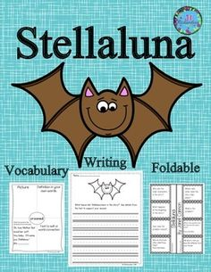 Stellaluna by Janell Cannon  is a delightful story of a bat and this activity includes a comprehension foldable, vocabulary graphic organizers and writing activities with rubrics.  It includes:8 vocabulary graphic organizersA fun comprehension foldable to show understanding of text!Vocabulary flash cards2 writing prompts2 writing rubrics