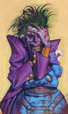 The Joker by Ariel Olivetti Nice and creepy Dc Comics Art, Batman Comics, Marvel Vs, Batman Universe, Dc Universe, Joker Art, Im Batman, Arte Horror, Joker And Harley Quinn
