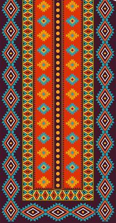 Tribal Pattern Art, African Tribal Patterns, Islamic Art Pattern, Boarder Designs, Page Borders Design, Design Page, Art Textile, Textile Prints, Textile Design