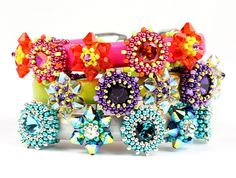 Flower Power Sliders | by Beadwork by Sian. I love these!