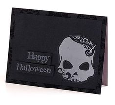 Halloween Card for Scrapbooks Etc. (love the sophisticated spookiness)