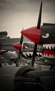 P40 in front spitfires in rear
