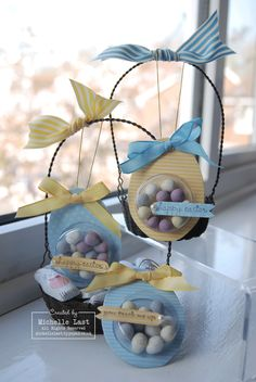 Easter goodies using Sweet Treat Cups from Stampin' Up! - with Michelle Last