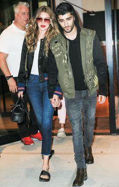 Zayn Malik Spotted With Gigi Hadid In SOHO Wearing A Custom Marc Jacques Burton Jacket