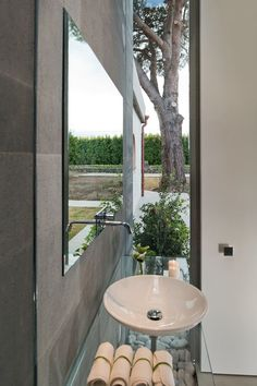 Zash Country Boutique Hotel, bathrooms have slit windows to the gardens