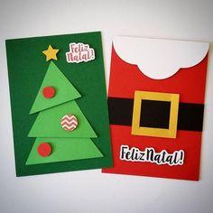 Cart o de Natal para fazer com as crian as o as Christmas Cards Handmade Kids, Christmas Card Crafts, Christmas Cards To Make, Kids Christmas, Holiday Crafts, Christmas Decorations, Handmade Cards, Blog Moda, Christmas Clothing