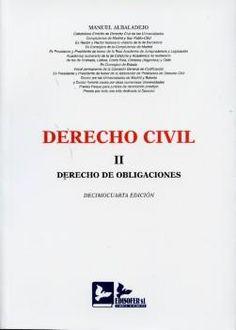 Derecho civil: derecho de obligaciones  / Manuel Albaladejo