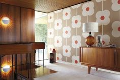 Orla Kiely for Harlequin: Wallpaper: Giant Abacus Flower 110408 £52/roll Stockist no: 0845 123 6805 www.harlequin.uk.com
