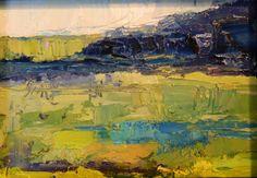 oil painting landscape miniature framed by JaniceWarrinerArt, $267.00