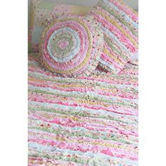 gorgeous frill quilt and cushion