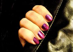 Transparent Opaque Gradient Nails