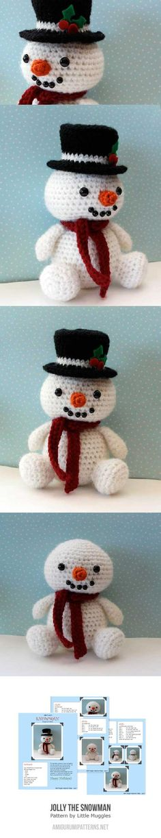 Jolly The Snowman Amigurumi Pattern