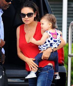 Mila Kunis with daughter Wyatt Isabelle