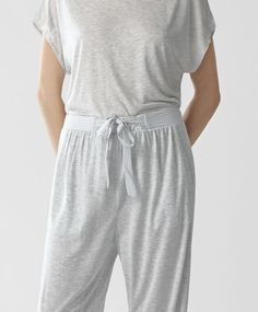 Trousers with piping, 19.99£ - Long trousers with side pockets. Stretch waist with drawstring - Find more Spring Summer 2017 trends in women fashion at Oysho.