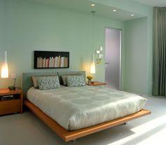 dormitorio paredes color verde agua