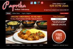 Check out our brand new website for online ordering.  www.paprikaonline.co.uk