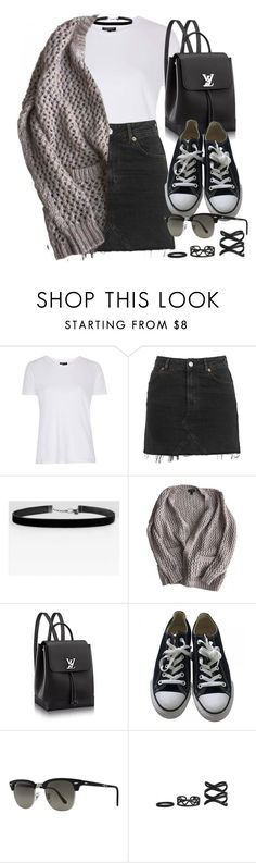 """Style #11525"" by vany-alvarado ❤ liked on Polyvore featuring Topshop, Converse and Ray-Ban"