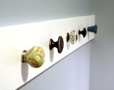 DIY Wall Hook ideas - always liked this look.  need to make one sometime.