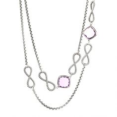 David Yurman Products / David Yurman  Confetti Amethyst Necklace - 46    Retail Price: $1250.00  Our Price:  $875.00  On sale at www.sweepstreet.com