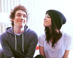 Tay Jardine and Jordan Eckes♥ I ship this but all of the guys in We Are The In Crowd got friend zoned by Tay. Ahha