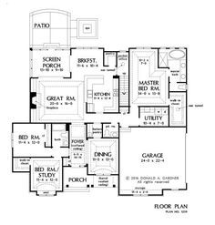 NOW AVAILABLE! The Orwell – Home Plan 1259. See more details on our house plans blog! #WeDesignDreams