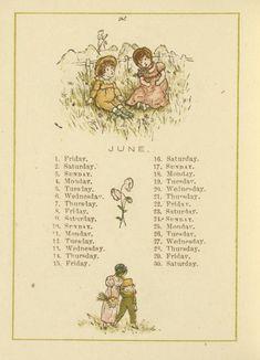 June - Kate Greenaway's Almanack for 1883