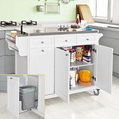 SoBuy® Küchenwagen, Küchenschrank, Rollschrank, Küchenregal,FRG12 ... | {Küchenwagen mit granitplatte 55}